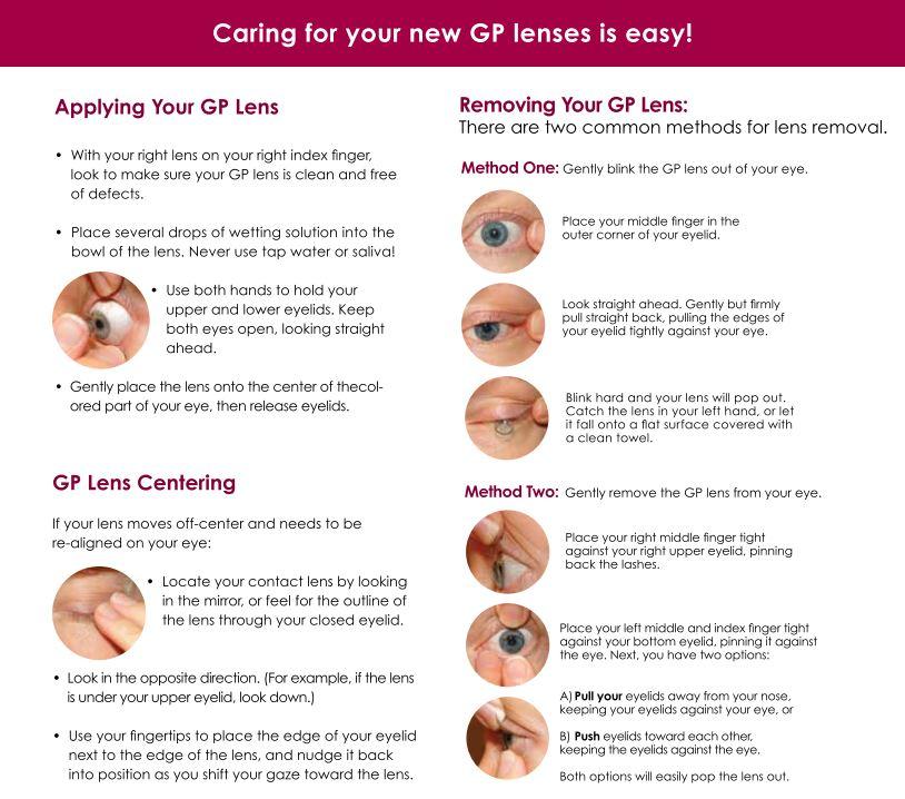 GP lens care